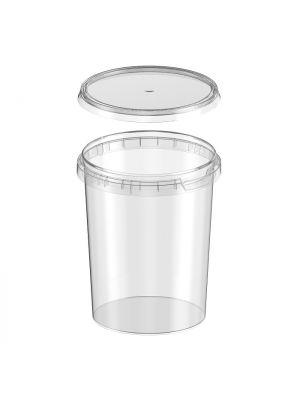 ø118 mm 1000ml plastic bakje (TE) met deksel