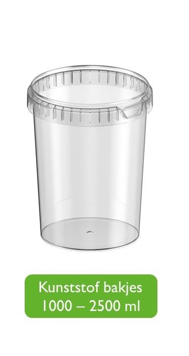 Kunststof bakjes 1001 - 2500 ml