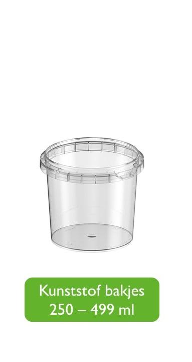 Kunststof bakjes 251 - 500 ml