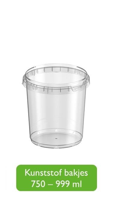 Kunststof bakjes 751 - 1000 ml