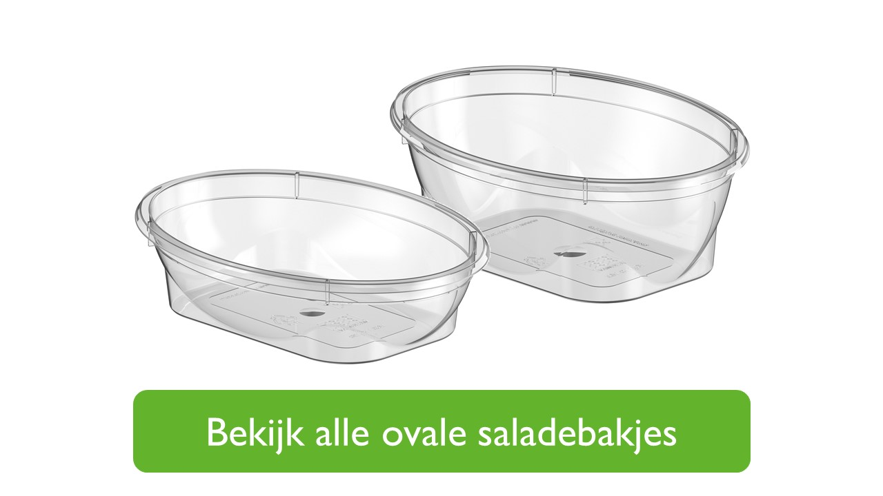 Ovale saladebakjes