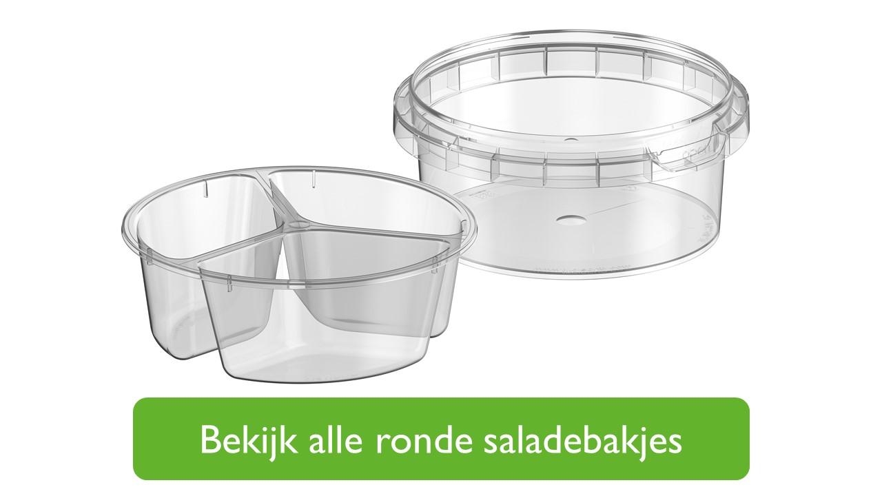 Ronde saladebakjes